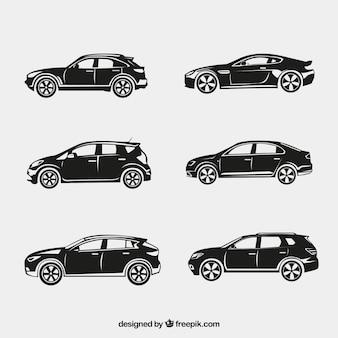 Silhouettes fantastiques de voitures