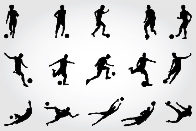 Silhouettes de football
