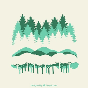 Silhouettes de forêt