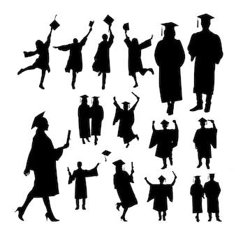 Silhouettes de graduation