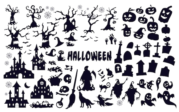 Silhouettes d'halloween