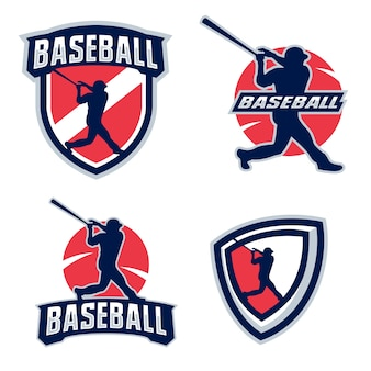 Silhouettes de joueur de baseball