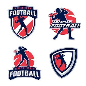 Silhouettes de joueur de football américain
