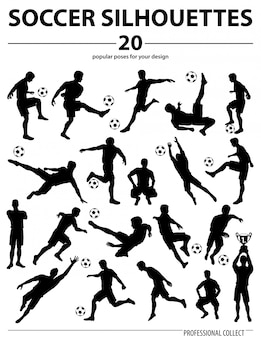 Silhouettes, joueurs football
