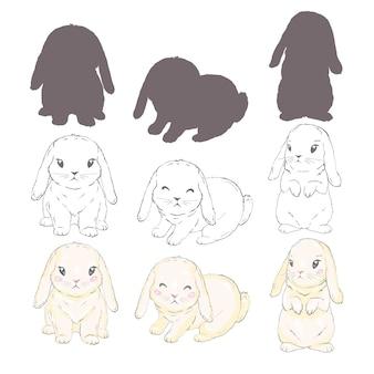 Silhouettes de lapin