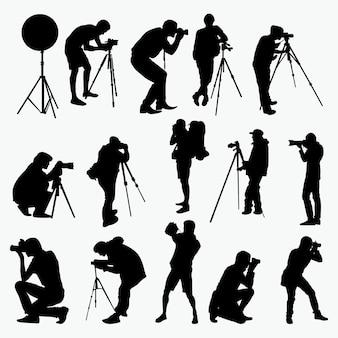Silhouettes de photographes