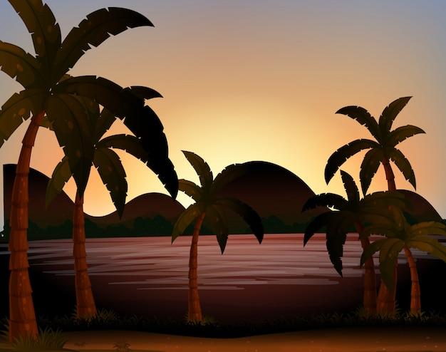 Silhouettes de plage