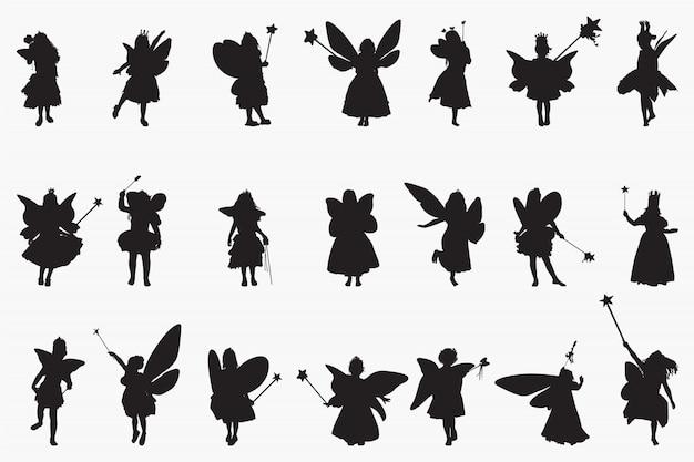Silhouettes de princes de fées