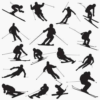 Silhouettes de ski