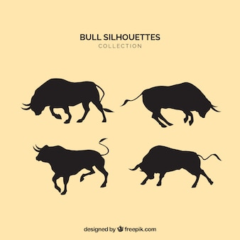 Silhouettes de taureaux