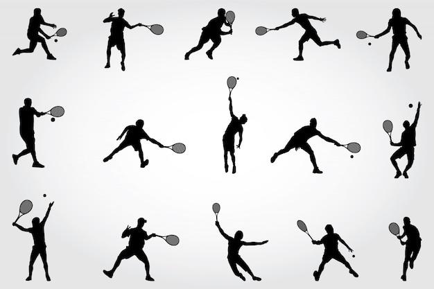 Silhouettes de tennis