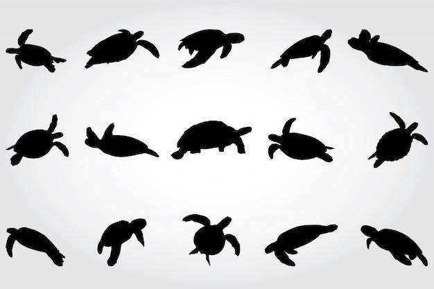 Silhouettes de tortues