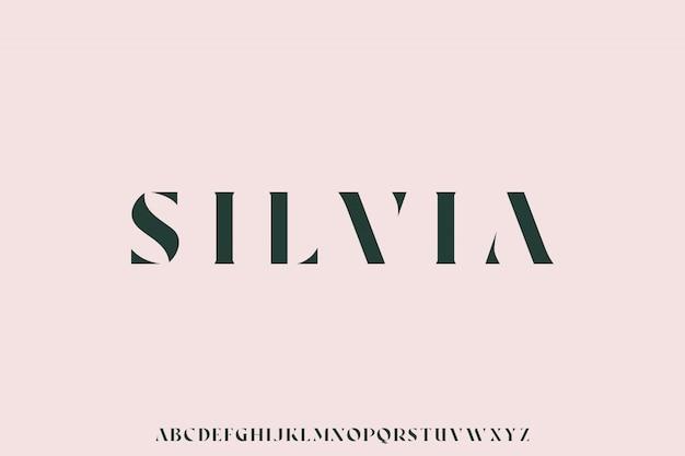 Silvia, le jeu de polices de luxe alphabet