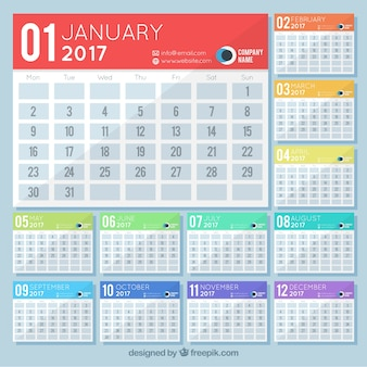 Simple 2017 calendrier