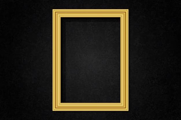 Simple cadre doré sur le mur