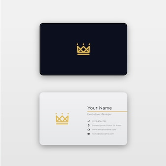 Simple carte de visite royale minimale