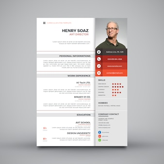 Simple CV tamplte moderne