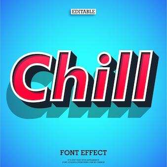 Simple effet de texte rétro moderne chill