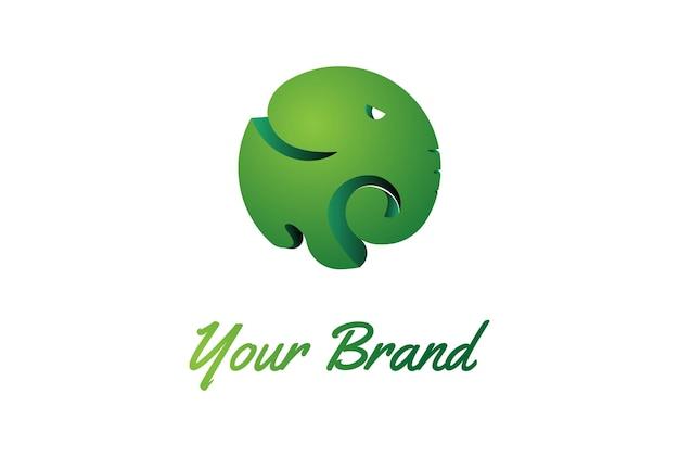 Simple minimaliste moderne coloré circulaire éléphant icône symbole logo conception vecteur