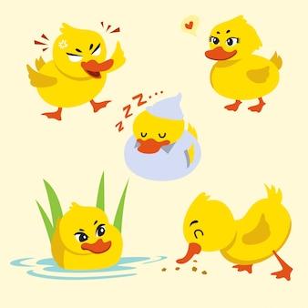 Simple petit dessin animé mignon de canard