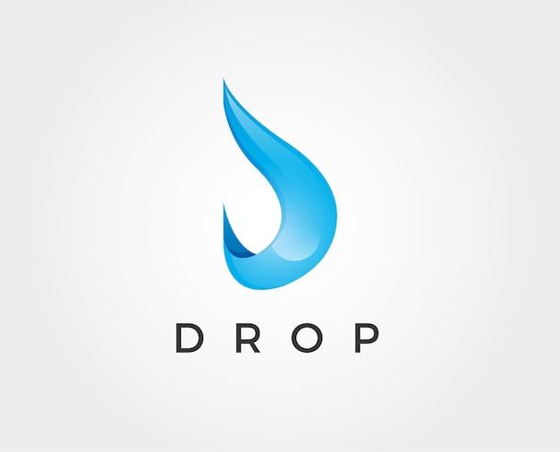 Simple Et Soigné Est Parfait Pour Les Logos D'entreprise D'eau Minérale Vecteur Premium