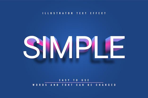 Simple - texte modifiable illustrator