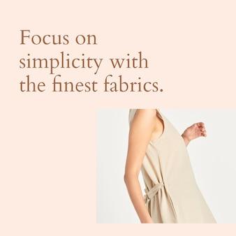 Simplicité des modèles de médias sociaux de mode avec les meilleurs tissus