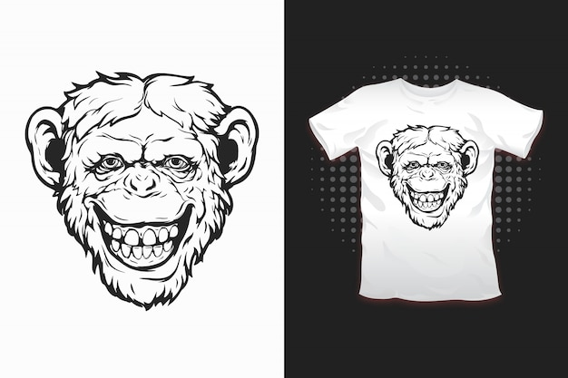 Singe imprimé pour t-shirt