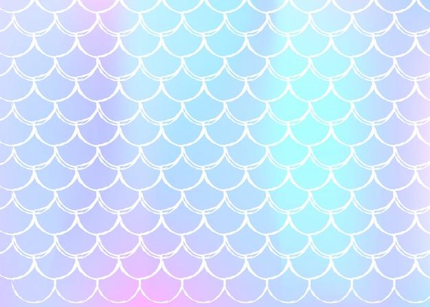 Sirène échelles fond avec dégradé holographique.