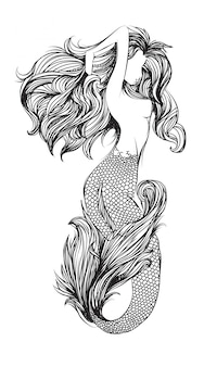 Sirène de tatouage