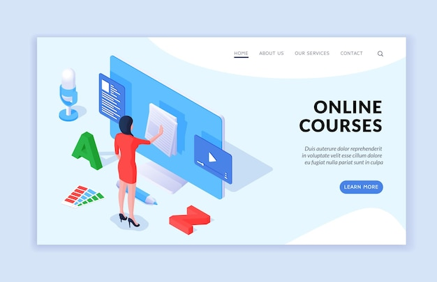 Site de cours en ligne