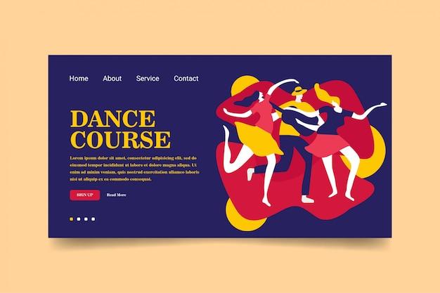 Site de la page de destination du cours de danse