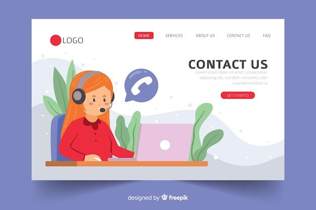 Site de la société nous contacter page