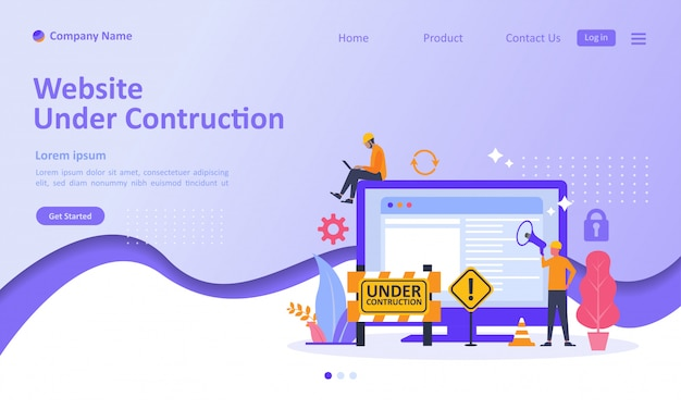 Site web en construction page de destination