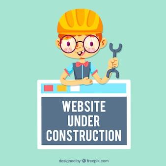 Site web en cours de conception de construction avec nerd