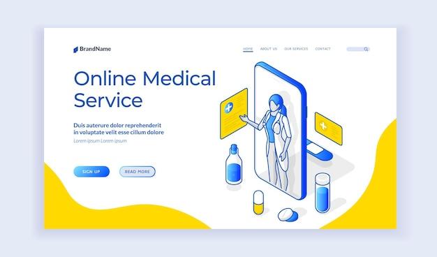 Site web du service médical en ligne