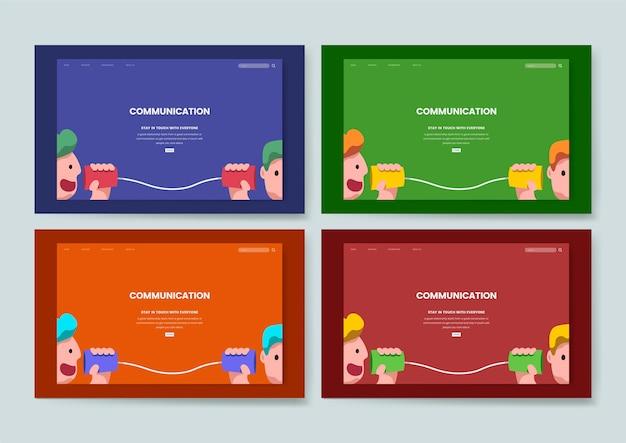 Site web graphique de communication et d'information