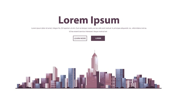 Site web d'horizon des bâtiments de la ville
