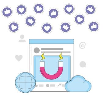 Site web mondial contenant des informations sur les médias en nuage