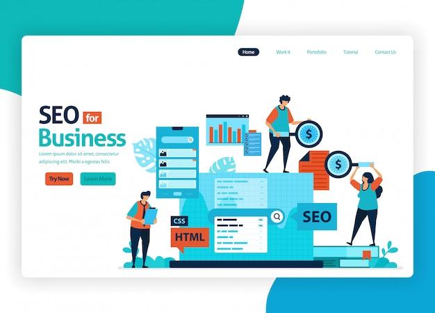 Site web d'optimisation marketing avec seo.