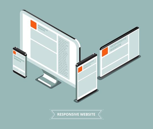 Site web réactif avec un appareil différent