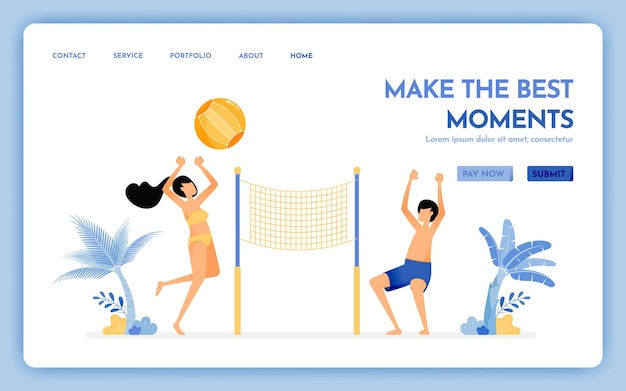 Site web de voyage de faites le meilleur moment sur la page de destination des vacances