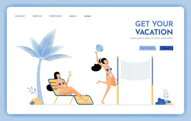 Site web de voyage pour obtenir votre page de destination de vacances