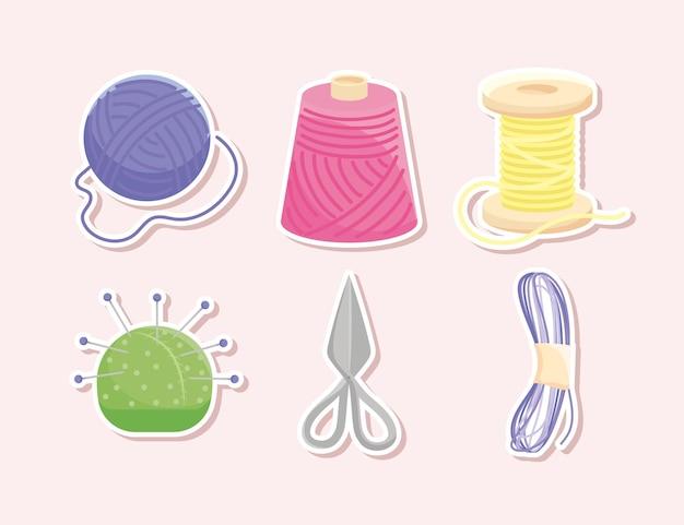 Six articles à tricoter