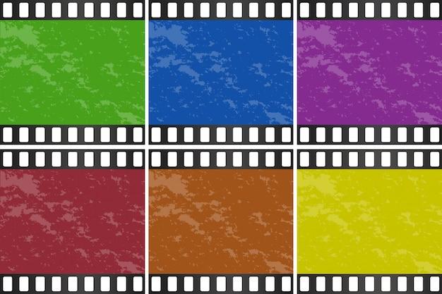 Six couleurs différentes de la diapositive de film