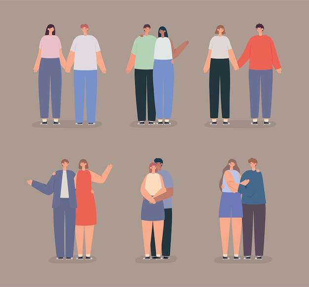 Six couples occasionnels