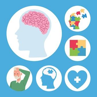 Six éléments d'alzheimer