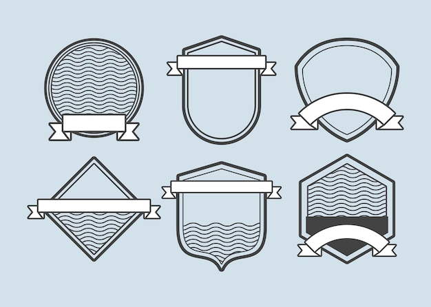 Six emblèmes de cadres