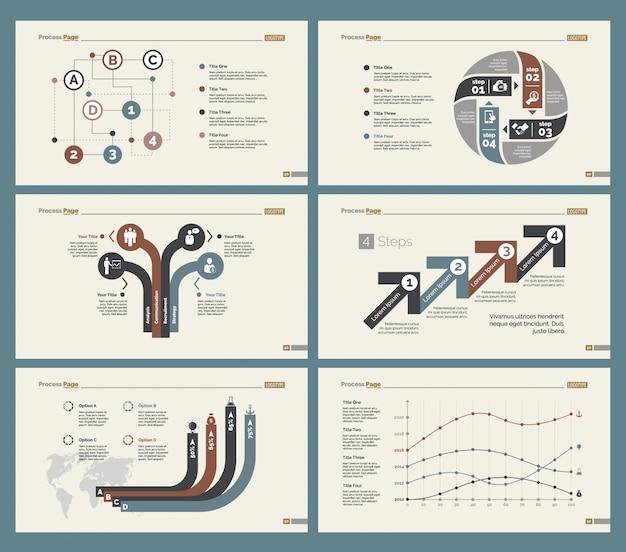 Six finance slide templates set
