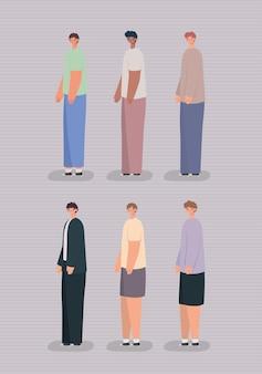 Six hommes occasionnels